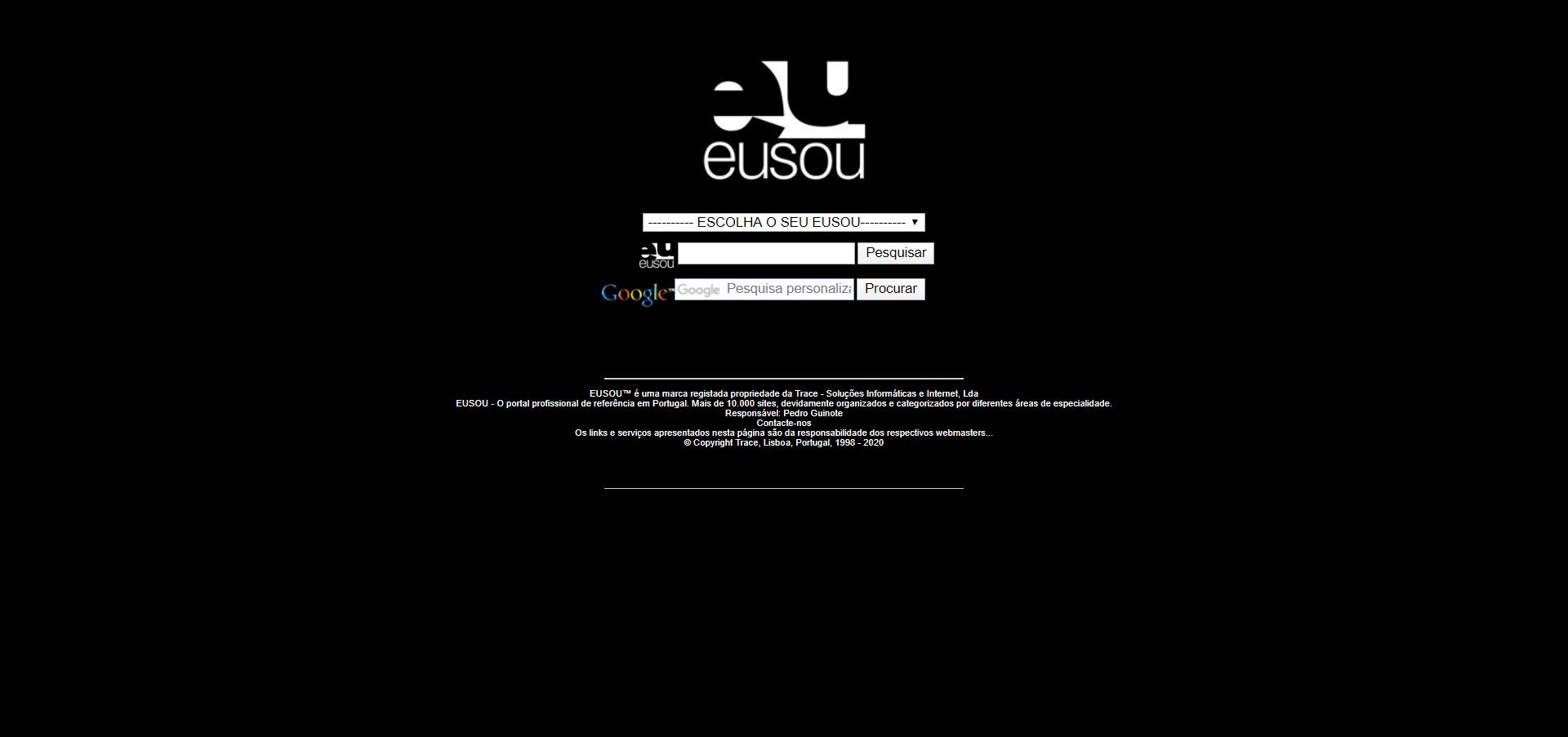 Antigo site EU SOU em https://old.eusou.com